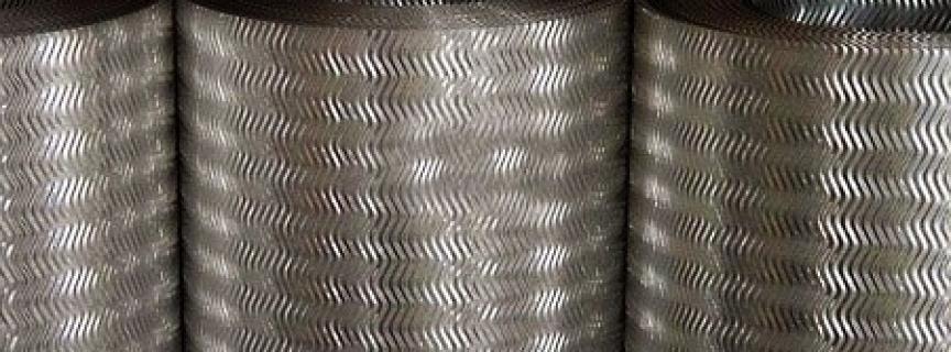 Лист стальной рифленый